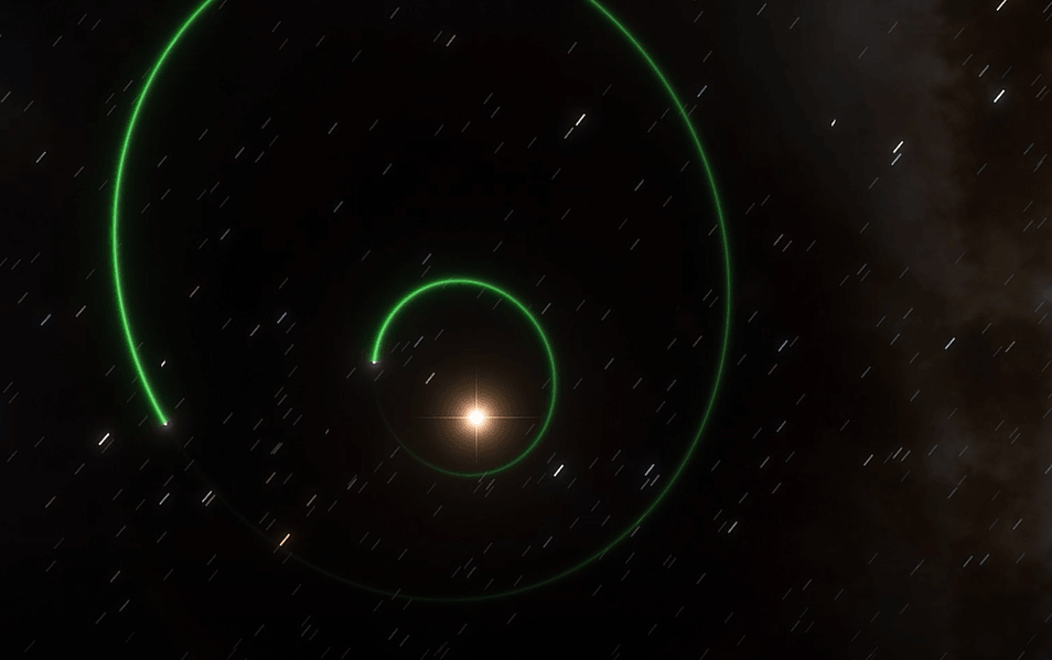 Exoplaneta GJ 5312b.