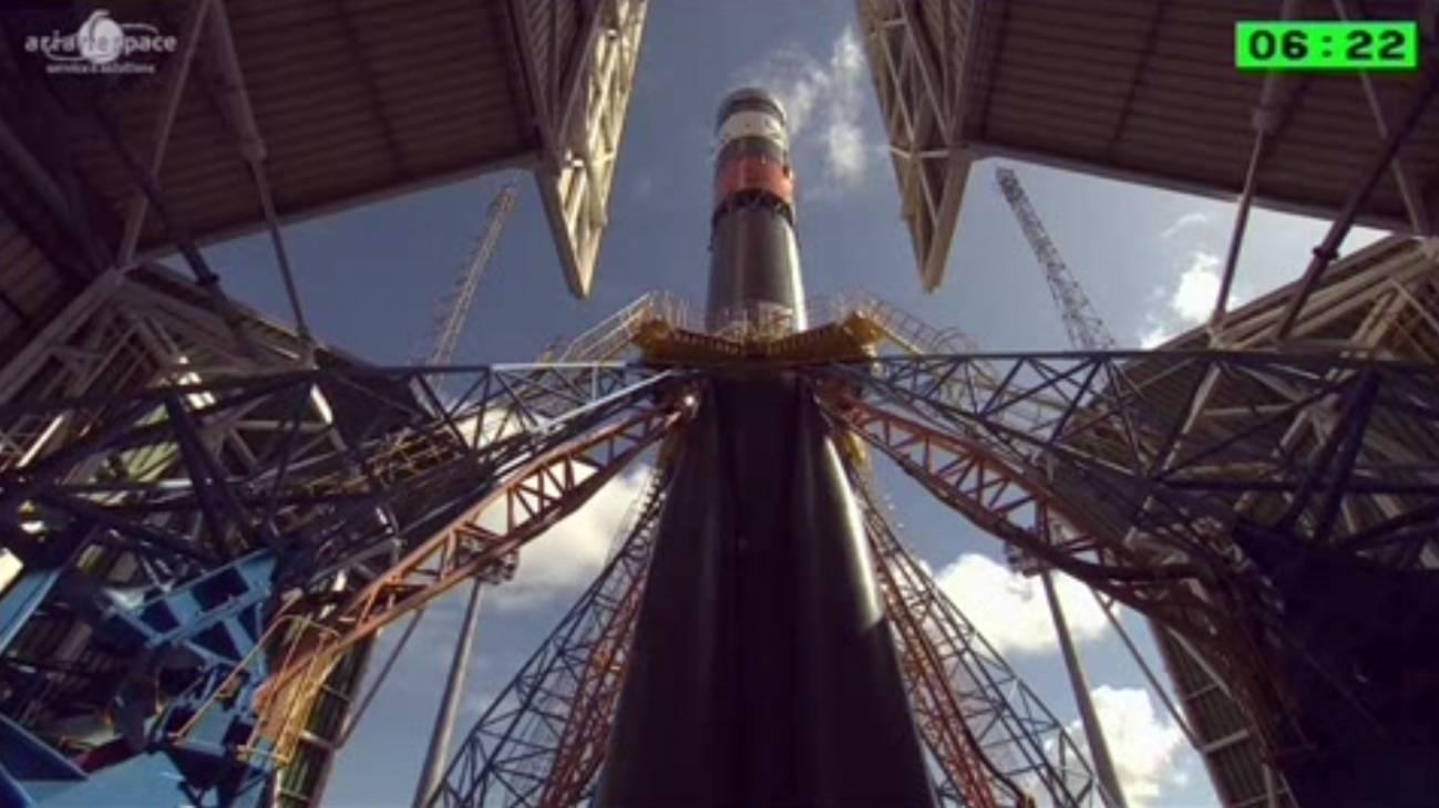 Lanzamiento de los satélites.