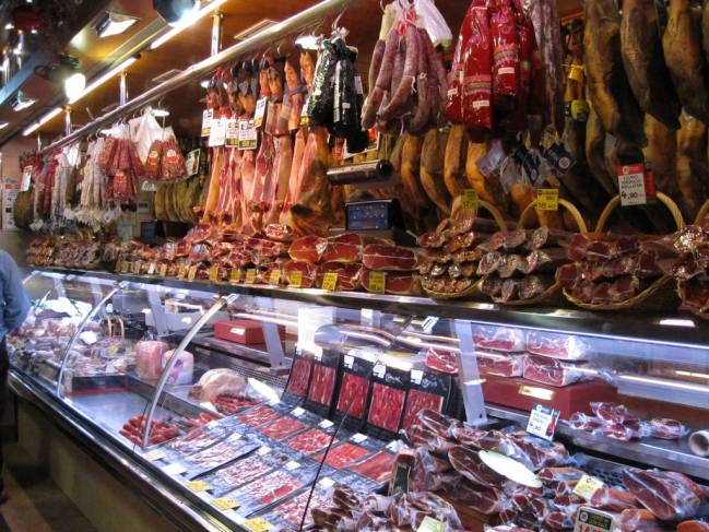 Mercado de La Boquería en Barcelona.