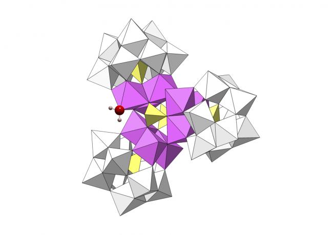 Estructura del nuevo catalizador, un 'polioxometalato' de cobalto y wolframio