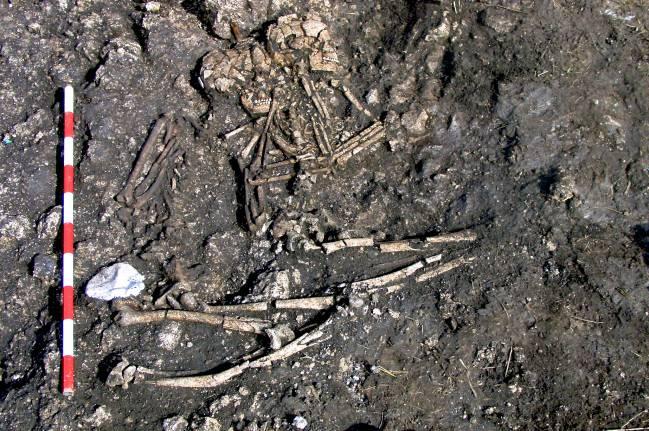47 individuos estrechamente emparentados pertenecientes a un mismo grupo fueron enterrados juntos