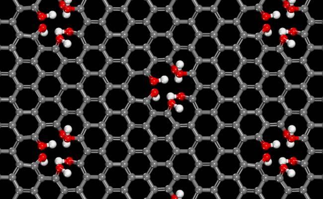 Solo con que ocurran unas pocas de estas anomalías en cada micra cuadrada de la lámina de grafeno es suficiente para permitir una rápida transferencia de protones