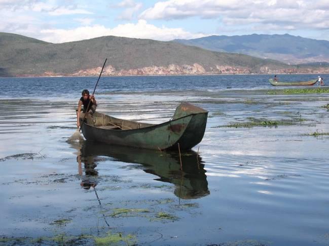 Lago Erhai, en la provincia China de Yunnan
