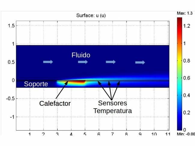 Simulación numérica del sensor