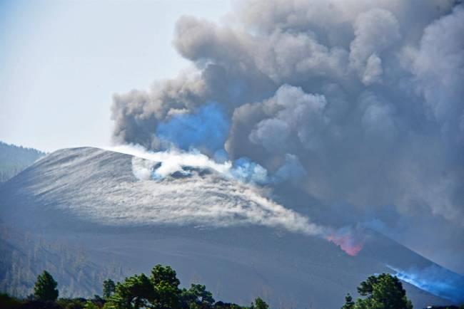 El cono volcánico de La Palma