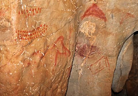 Panel localizado en la cueva de La Pasiega (Puente Viesgo, Cantabria)