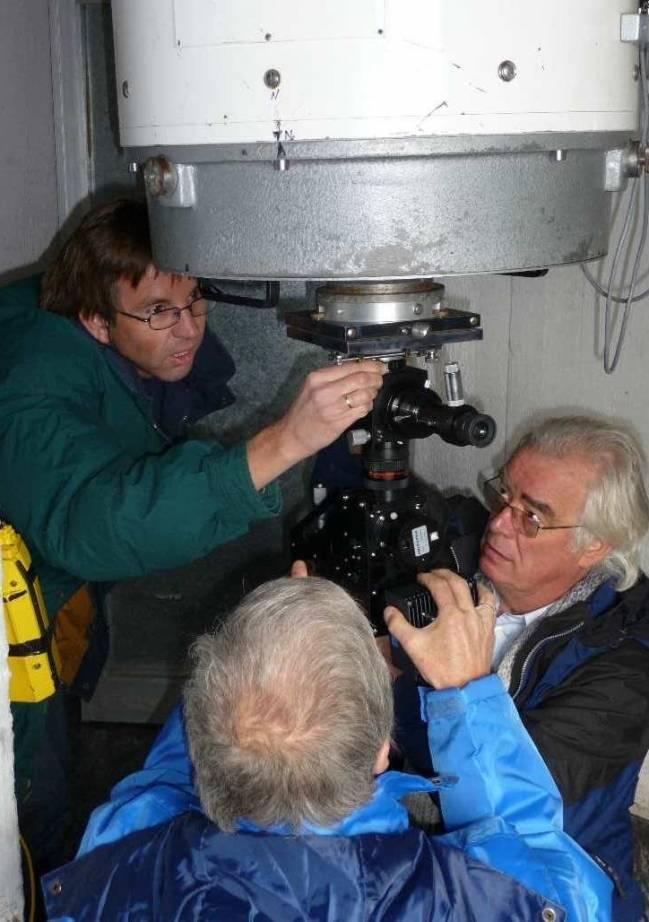 Instalación telescopio Mons, Observatorio del Teide (IAC)