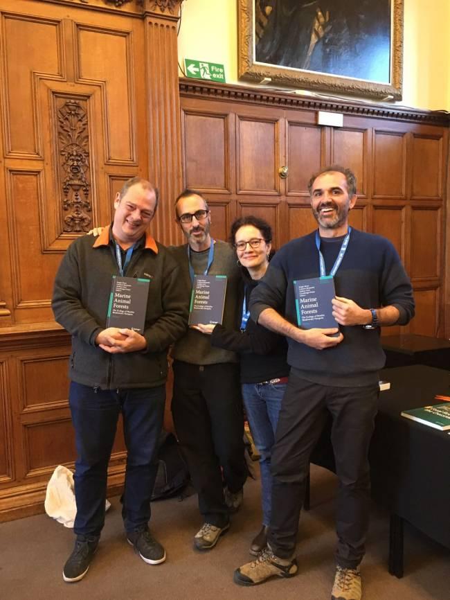 Autores del libro. De izquierda a derecha: Sergio Rossi, Andrea Gori, Covadonga Orejas y Lorenzo Bramanti.
