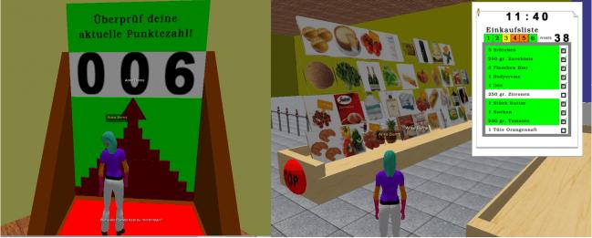 Los investigadores desarrollaron un juego en 3D al que denominaron The supermarket-game / Fundación Descubre