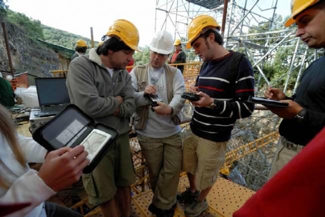 PDAS en pleno uso en Atapuerca