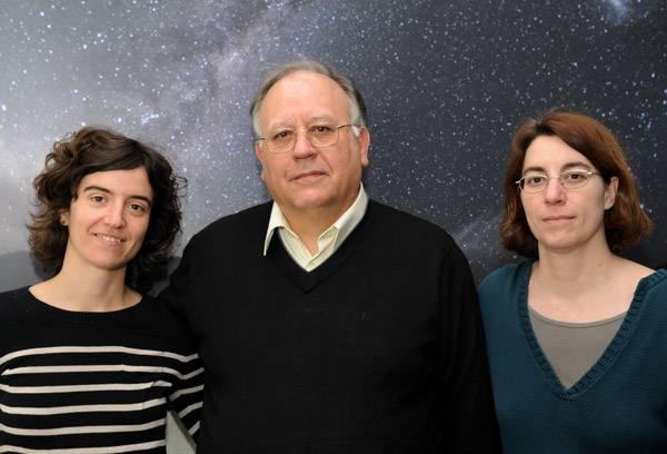 Los investigadores de la UB Neus Àgueda, Blai Sanahuja y Àngels Aran.