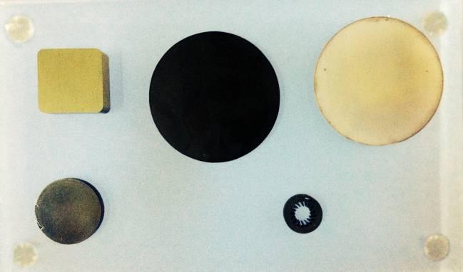 Ejemplos de los componentes ultraduros que se podrán fabricar en la nueva instalación.
