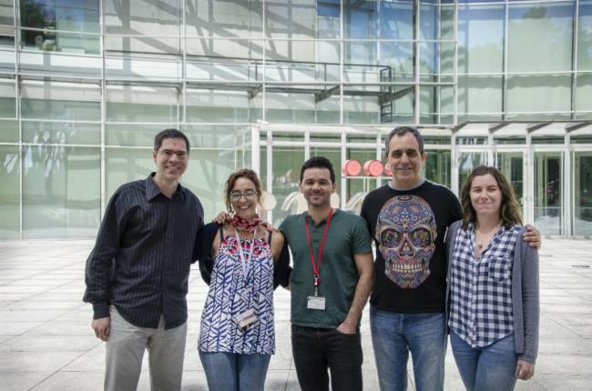 Los investigadores del CNIC David Sancho, Rebeca Acín-Pérez, Michel Enamorado Escalona, José A. Enríquez y Sarai Martínez-Cano