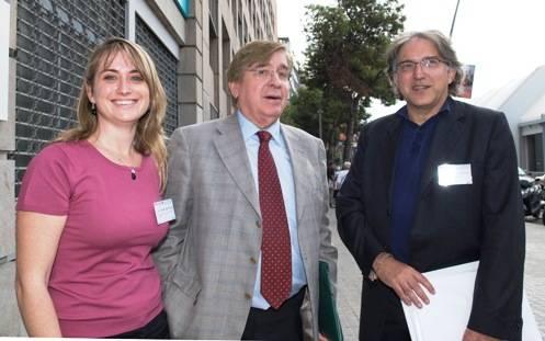 Maria del Mar Mañu, Project Manager de ENERCA, Josep Lluis Vives-Corrons, IP de ENERCA, y Antoni Montserrat, European Commission Policy Officer for Rare Diseases