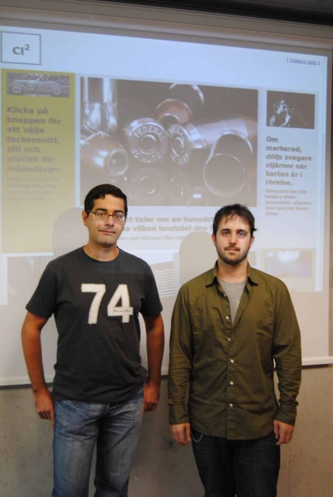 Los investigadores del ITI, Luis Leiva y Vicente Alabau