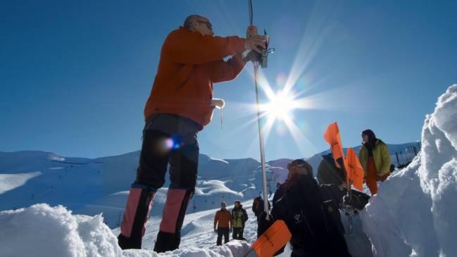 Procedimiento de localización de víctimas de avalanchas