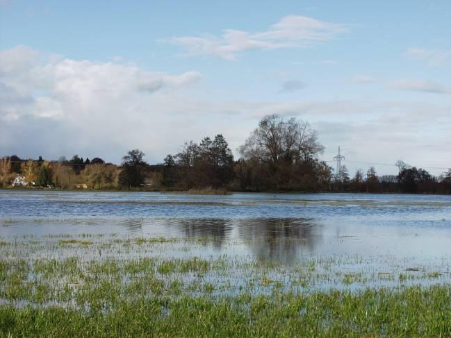 Paisaje fluvial inundado