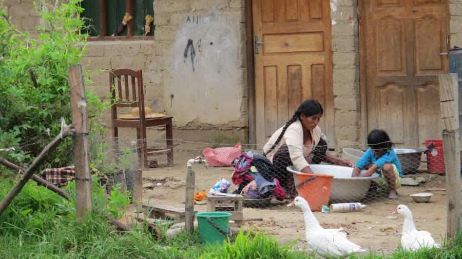Comunidad rural en Bolivia