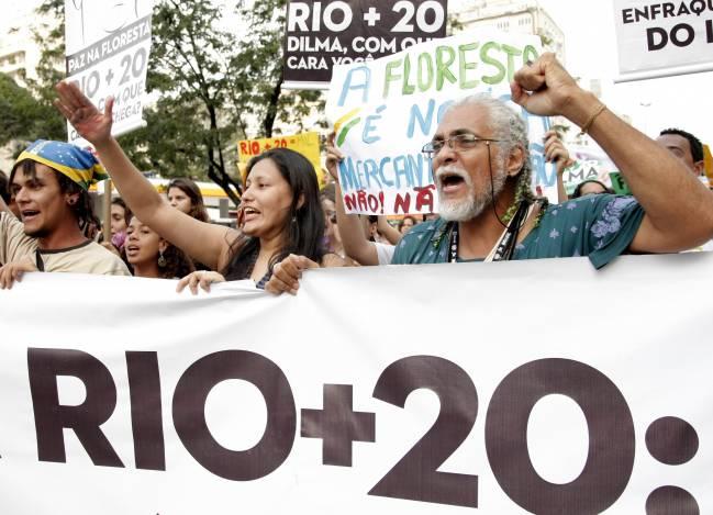 Protestas en Río de Janeiro
