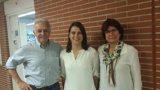 Daniel Grinberg, Marta Gómez-Grau y Lluïsa Vilageliu, miembros del Grupo de Investigación en Genética Molecular Humana de la Universidad de Barcelona.