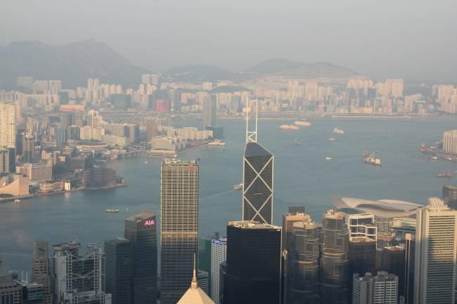 Contaminación en la ciudad de Hong Kong.
