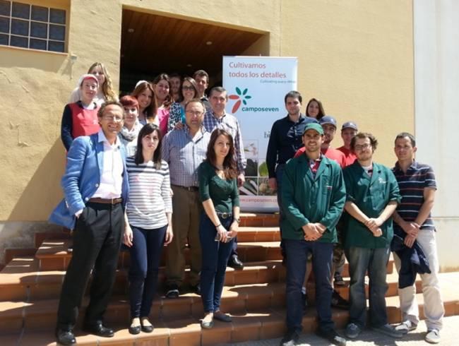 Agricultores, miembros del equipo de investigación y de la SAT Camposeven.