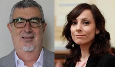 Los investigadores Rafael Franco, del Instituto de Biomedicina de la Universidad de Barcelona, y Eva Martínez-Pinilla, de la Universidad de Oviedo.