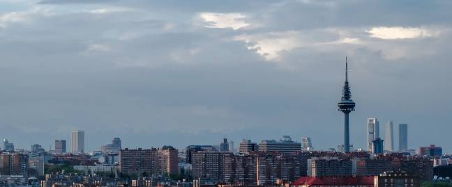 Skyline de Madrid.