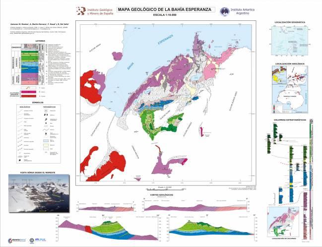 Mapa Geológico de la Bahía Esperanza