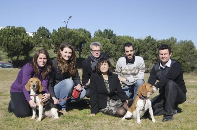 El equipo de investigación de la UAB liderado por la doctora Fàtima Bosch (la quinta por la izquierda)