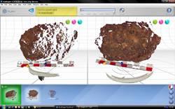 Primer mapa laser tridimensional de un impacto meteorítico