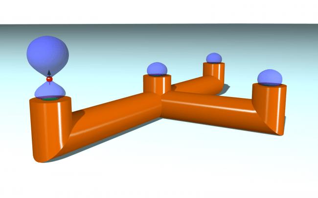 Representación esquemática de la fibra magnética.