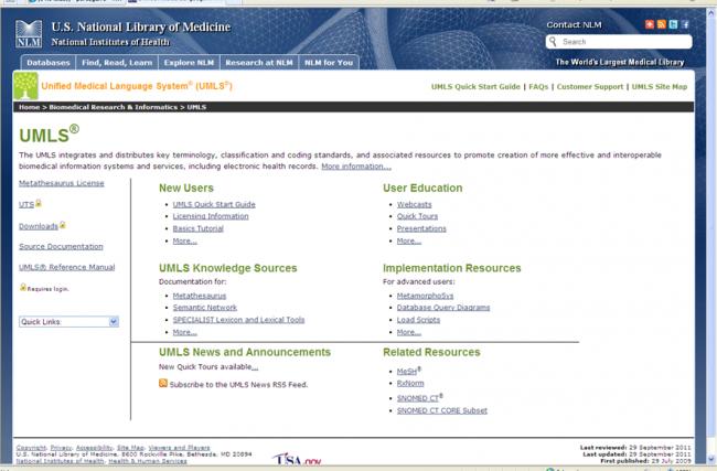 Vista del sitio web
