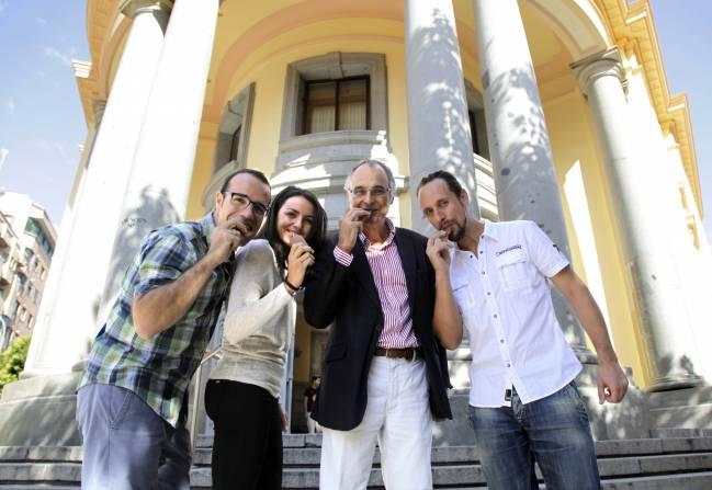 Los investigadores de la Universidad de Granada que han publicado este artículo. De izquierda a derecha, Jonatan R. Ruiz, Magdalena Cuenca García, Manuel J. Castillo Garzón y Francisco B. Ortega.