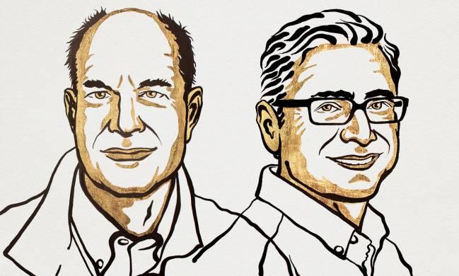 Ilustración de los dos ganadores del premio Nobel