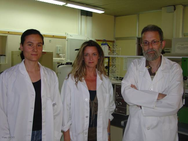 El director del Instituto de Biomedicina de la Universidad de León, Javier González-Gallego, junto a las dos participantes leonesas en el estudio, Sonia Sánchez Campos y María Victoria García Mediavilla (izq.).