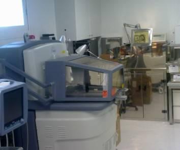 Imagen del sistema terminado como producto comercial de la compañía SEDECAL instalado en los laboratorios de la UC3M