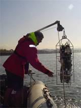Toma de muestras de Fitoplancton