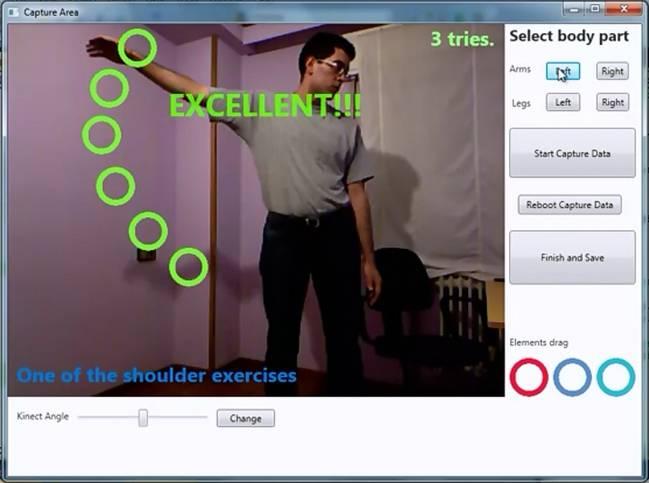 Una cámara web registra los movimientos para evaluar la correcta ejecución de los ejercicios