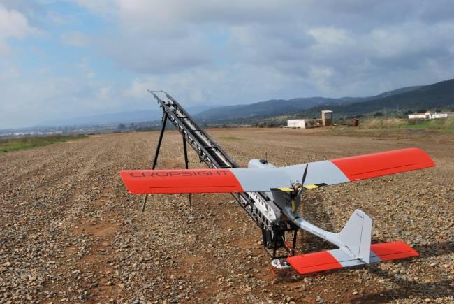 Despegue de uno de los aviones no tripulados empleados en el estudio