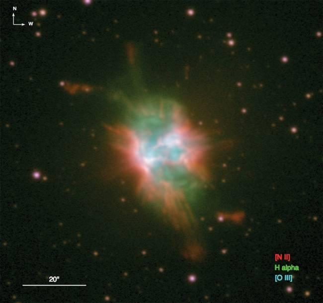 Imagen de NCG 6778 obtenida con el telescopio NOT.