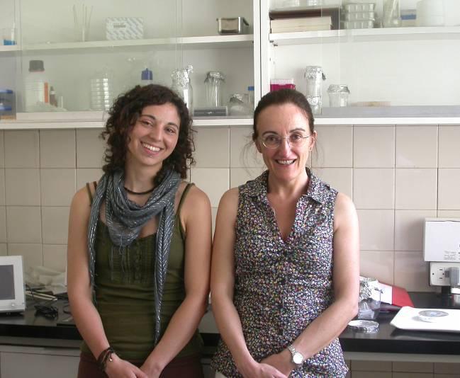 Las investigadoras Irene Delgado Y Marian Ros, firmantes del artículo. Foto: CSIC