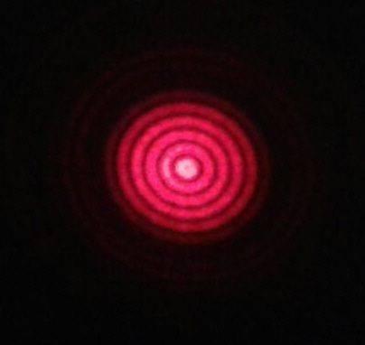 Imagen frontal de un haz de Bessel no lineal. Fuente: Miguel Ángel Porras.