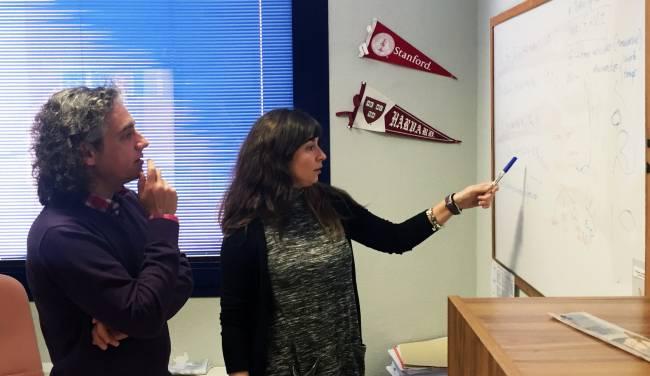 Los investigadores de la Universidad de Jaén Francisco Esteban y Leticia Díaz-Beltrán / Fundación Descubre