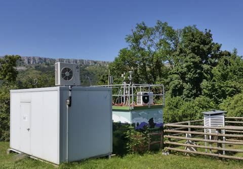 Imagen de la estación de medición de Valderejo.