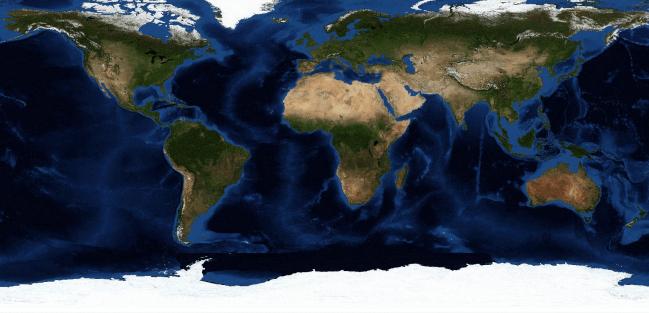 Mapa de distribución de taxones. /  RJB