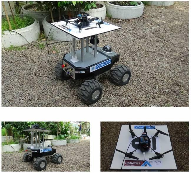 Equipo de robots empleado en los experimentos.