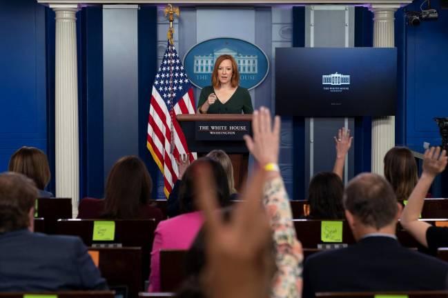 Rueda de prensa en la Casa Blanca con Jen Psaki