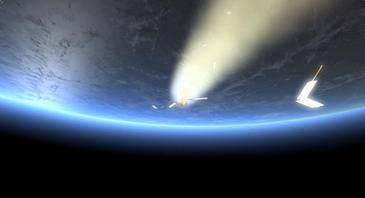 Representación de la reentrada del ATV-2