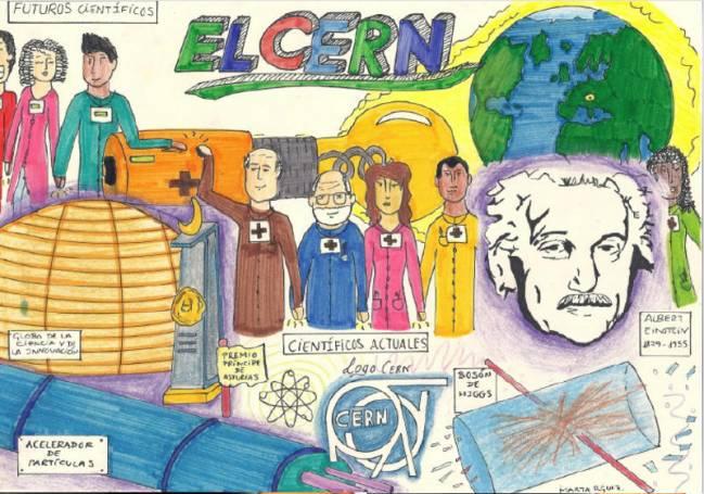 Dibujo de Marta Rodríguez, estudiante de Secundiaria. / CERN.